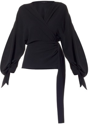 Meem Label Jolie Black Wrap Top