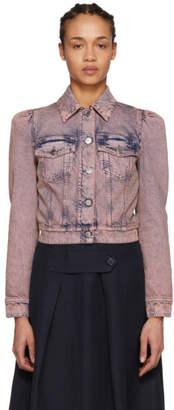Stella McCartney Pink Denim Cropped Jacket