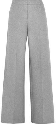 Alexander McQueen Cashmere Wide-leg Pants - Light gray
