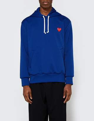 Comme des Garcons Play Hooded Sweatshirt in Navy