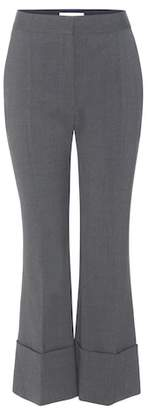 Stella McCartney Cropped flared wool trousers