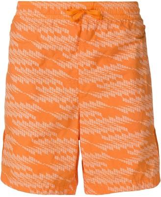 Stone Island Shadow Project drawstring waist swimming trunks