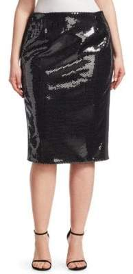 Marina Rinaldi Marina Rinaldi, Plus Size Sequin Pencil Skirt