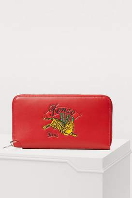 Kenzo Leather jumping tiger wallet