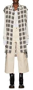 Marc Jacobs Women's Plaid Washed Silk Shirt - White Pat.