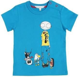 Little Marc Jacobs Rock Band Cotton Jersey T-Shirt