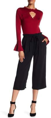 Adrianna Papell Crepe Culotte Pants