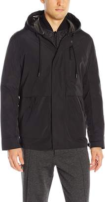 Andrew Marc Men's Graham Rain Tech 3 in 1 Systems Jacket W/Removable Quilted Jacket