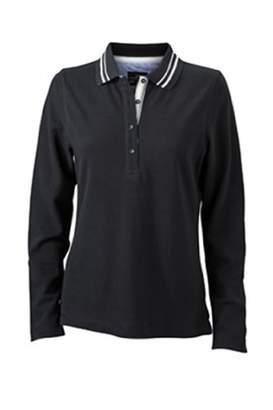 James & Nicholson Women's Poloshirt Ladies' Long-Sleeve - Maternity Polo Shirt -(Manufacturer size: )