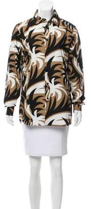 Marni Abstract Button-Up Top