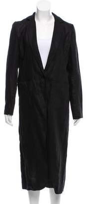 Nomia Linen Cutout Coat