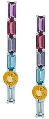 Daou 18kt white gold topaz Morning long earrings