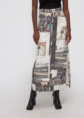 Ganni Long Printed Skirt