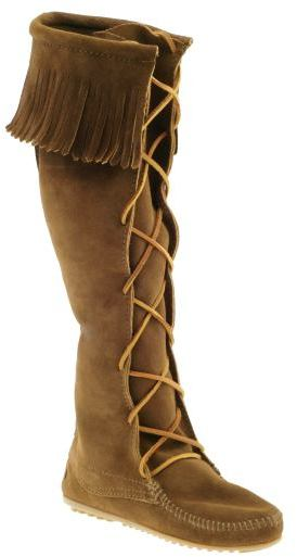 Minnetonka Moccasin Lace Up Knee Hi
