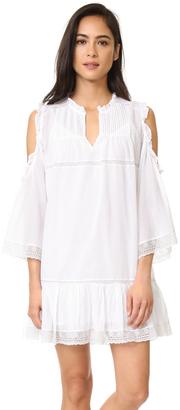 Love Sam Cold Shoulder Pintuck Dress $225 thestylecure.com