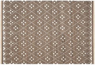 One Kings Lane Annie Flat-Weave Rug - Mocha