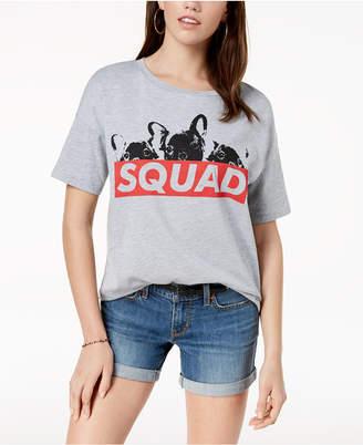 Pretty Rebellious Juniors' Squad Dog Graphic T-Shirt