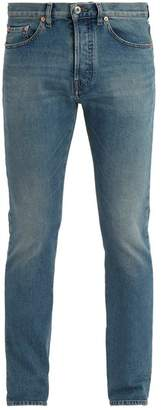 Valentino - Mid Rise Slim Leg Jeans - Mens - Blue