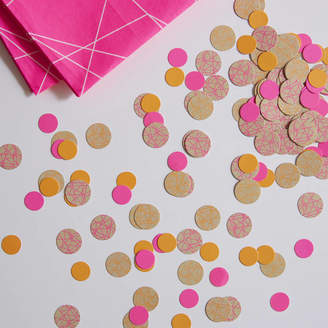 Ginger Ray Neon Pink And Kraft Coloured Party Table Confetti