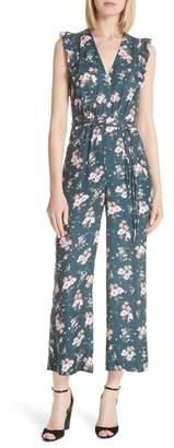 Rebecca Taylor Emilia Floral Sleeveless Silk Jumpsuit