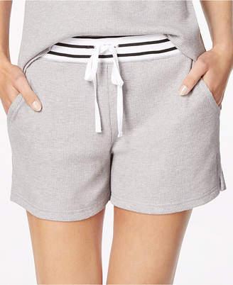 Alfani Stripe-Trimmed Thermal Pajama Shorts