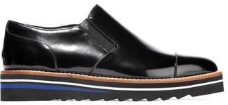 Vince - Alona Patent-leather Platform Loafers - Black $295 thestylecure.com