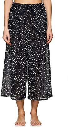 Castle & Hammock Women's Star-Print Cotton-Linen Crop Pants