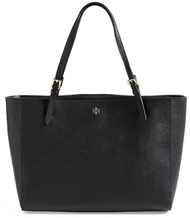 Tory Burch 'York' Buckle Tote - Black