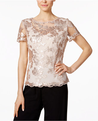 Alex Evenings Embellished Lace Blouse $139 thestylecure.com