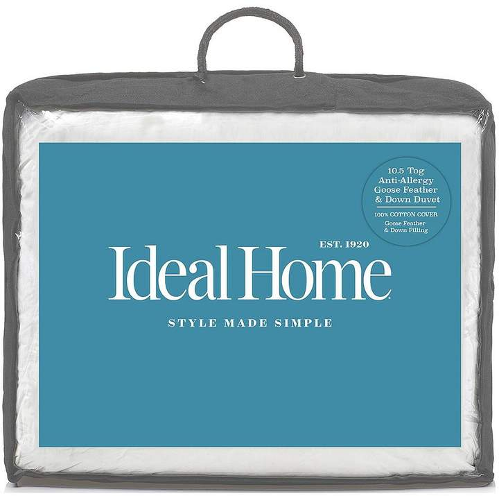 Ideal Home Luxury Anti-Allergy Goose Feather & Down 10.5 Tog Duvet