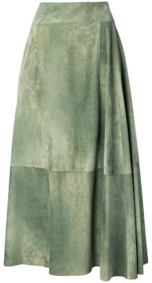 Bottega Veneta panelled midi skirt