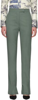 3.1 Phillip Lim Green Merino Series Structured Trousers