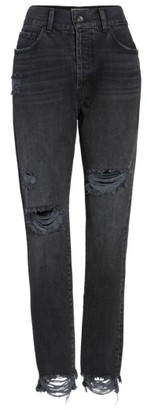 Women's Band Of Gypsies Madison Ripped High Waist Skinny Jeans $88 thestylecure.com
