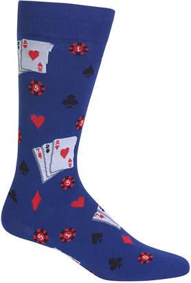 Hot Sox Men's Gambling Dress Socks