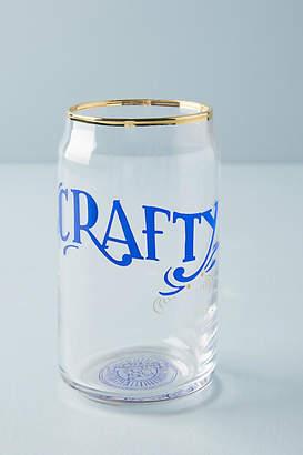 Anthropologie Gilded Beer Glass
