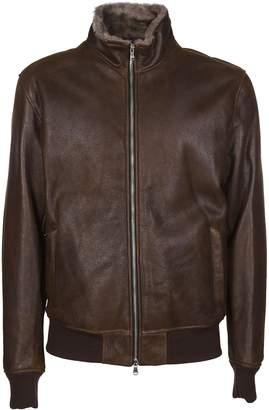 Barba Napoli Zipped Biker Jacket