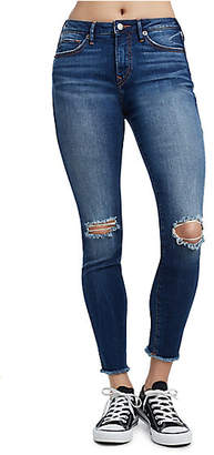 True Religion HALLE HIGH RISE DISTRESSED SUPER SKINNY WOMENS JEAN
