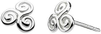 Heritage Sterling Silver Swirl Stud Earrings