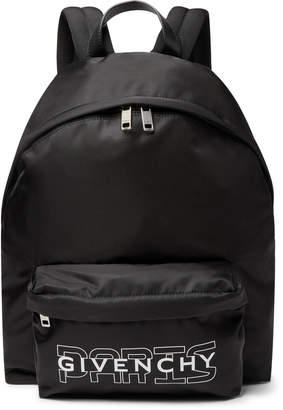 Givenchy Leather-Trimmed Logo-Print Nylon Backpack - Men - Black