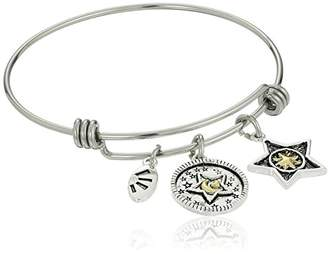 """Two-Tone Silver Plated """"Love You More Than All the Stars in the Sky"""