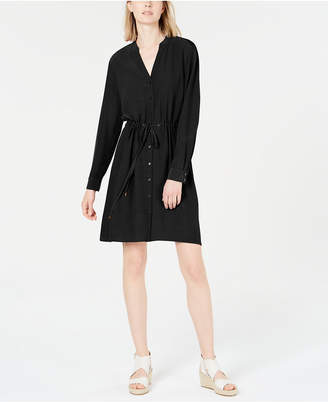 Eileen Fisher Drawstring-Waist Shirtdress