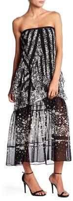 BCBGMAXAZRIA Printd Maxi Skirt