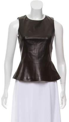 Cushnie et Ochs Faux Leather Sleeveless Top