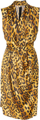 ADAM by Adam Lippes Animal Print Satin Crepe Dress