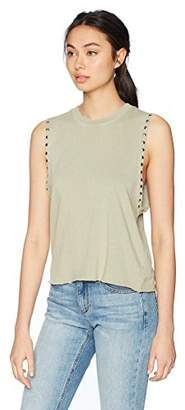 Monrow Women's Sleeveless Sweatshirt W/Studs