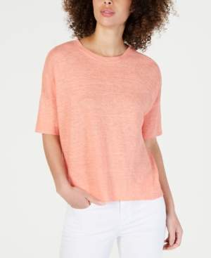 Eileen Fisher Organic Linen Round-Neck Sweater