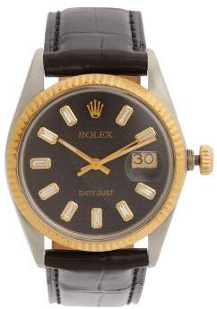 Rolex Lizzie Mandler - Diamond & 18kt Gold Watch - Womens - Black Gold