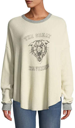 The Great The Circle Thermal Graphic Long-Sleeve Sweater