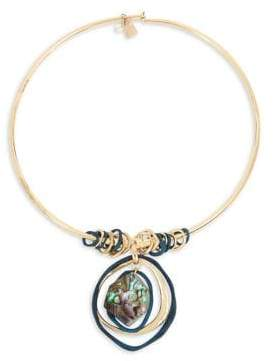 Robert Lee Morris Collection Abalone Pendant Round Wire Necklace