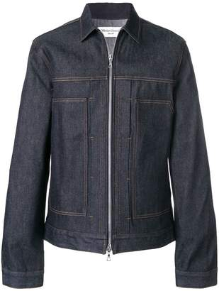 Officine Generale zipped denim jacket